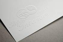 Elephant Monkey Embossed Paper Logo MockUp