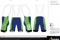 LCRacing Cycle Kit Bib Shorts
